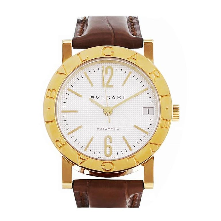 Women's Bulgari 18 Karat Yellow Gold Automatic Watch BB33GL For Sale
