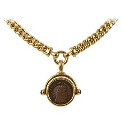 Bulgari 18 Karat Yellow Gold Constantine Magno Coin Necklace