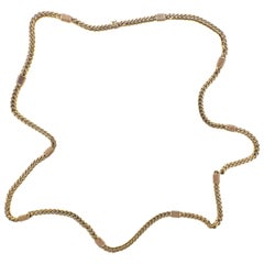 Bulgari 1980s Curb Link Long Chain Necklace
