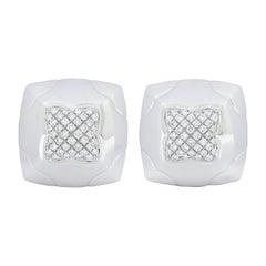 Bulgari 2.08 Carat Pave Diamond 18 Karat White Gold Pyramide Earrings