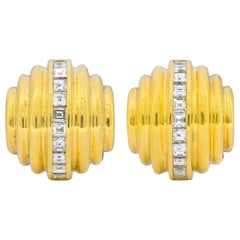 Bulgari 2.50 Carat Diamond 18 Karat Gold Multi-Dimensional Earrings