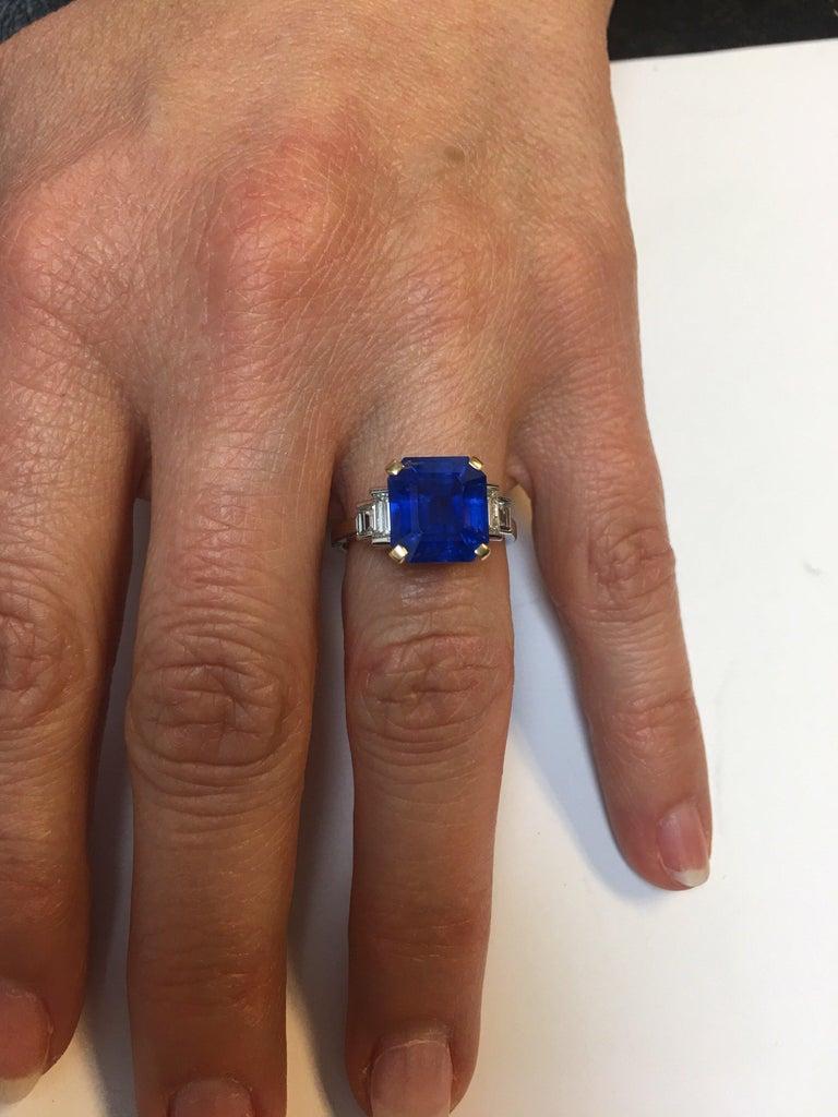 Bulgari 6.54 Carat Natural Sapphire Diamond Ring For Sale 2