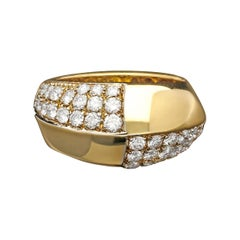 Bulgari, a Vintage Pavé Diamond & Gold Dress Ring, circa 1970s