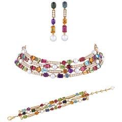 """Bulgari """"Allegra"""" Multi-Gemstone Jewelry Suite"""