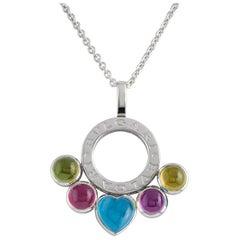 Bulgari Allegra White Gold Gemstone Necklace