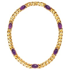 Bulgari Amethyst and 18 Karat Yellow Gold Necklace