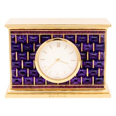 Bulgari Amethyst, Ruby Desk Clock
