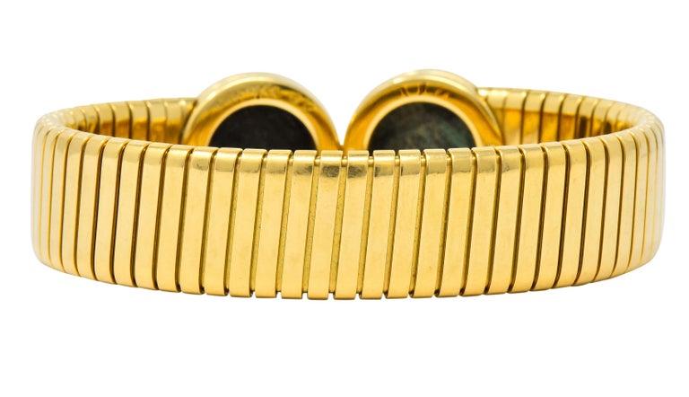 Women's or Men's Bulgari Ancient Coin 18 Karat Gold Monete Emperor Constans Rome Bangle Bracelet For Sale