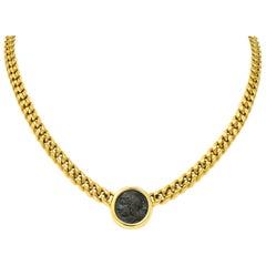 Bulgari Ancient Coin 18 Karat Yellow Gold Monete Pegasus & Apollo Necklace