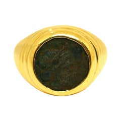 Bulgari Ancient Coin 18 Karat Yellow Gold Ring