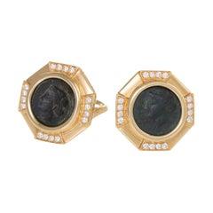 "Bulgari Ancient Coin ""Monete"" Earrings"
