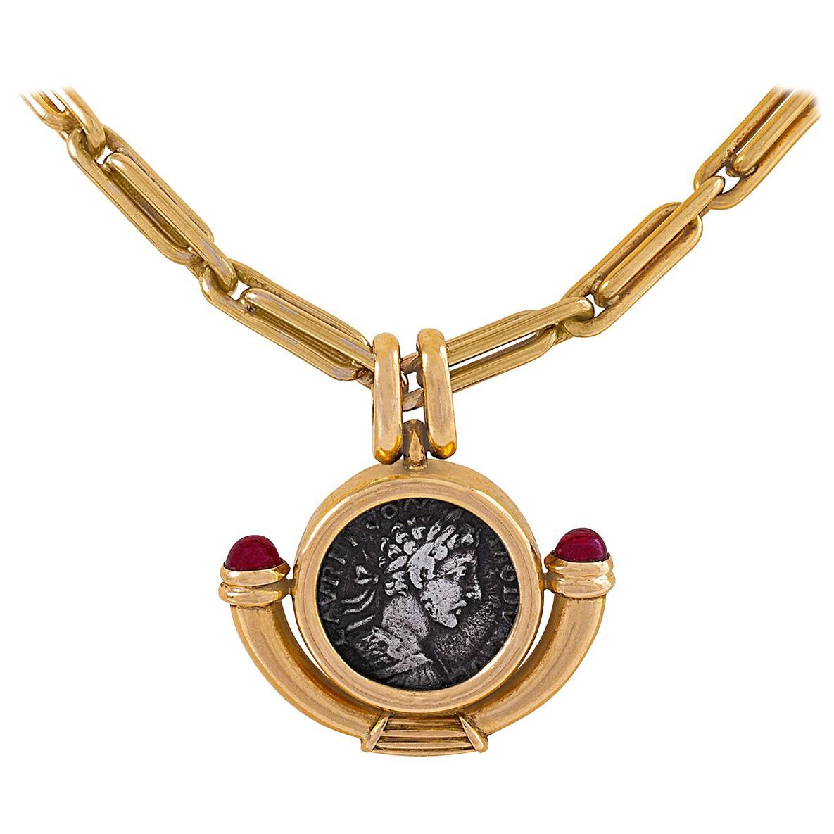 "Bulgari Ancient Coin ""Monete"" Necklace"