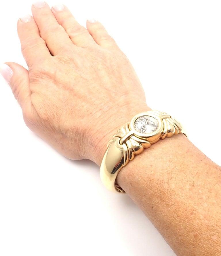 Bulgari Ancient Coin Yellow Gold Bangle Bracelet For Sale 6