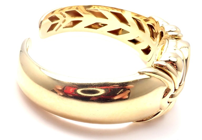 Bulgari Ancient Coin Yellow Gold Bangle Bracelet In Excellent Condition For Sale In Holland, PA