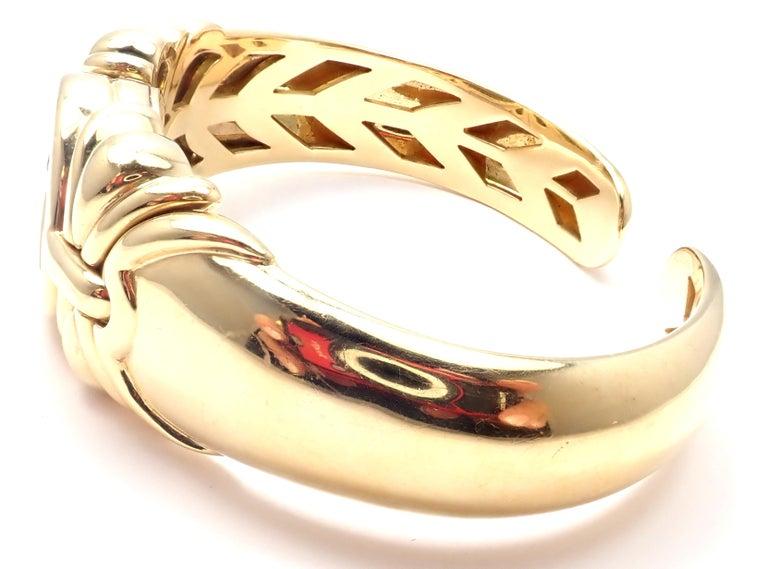 Bulgari Ancient Coin Yellow Gold Bangle Bracelet For Sale 2