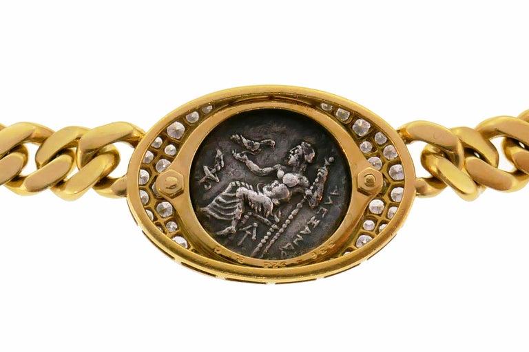 Bulgari Ancient Coin Yellow Gold Chain Necklace with Diamond Bvlgari 2