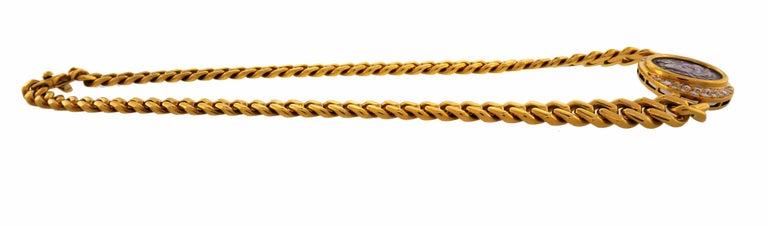 Bulgari Ancient Coin Yellow Gold Chain Necklace with Diamond Bvlgari 3