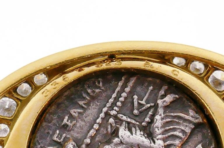 Bulgari Ancient Coin Yellow Gold Chain Necklace with Diamond Bvlgari 4