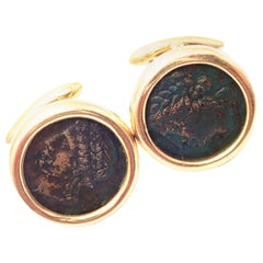 Bulgari Ancient Coin Yellow Gold Cufflinks