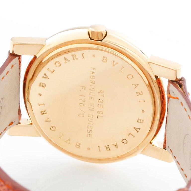 Bulgari Anfiteatro 18 Karat Yellow Gold Watch AT35GLD For Sale 1