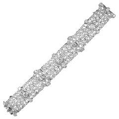 Bulgari Art Deco Diamond Platinum Articulated Bracelet