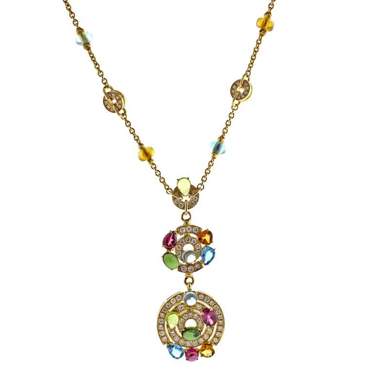 Bulgari Astral Gem Set and Diamond Drop Necklace