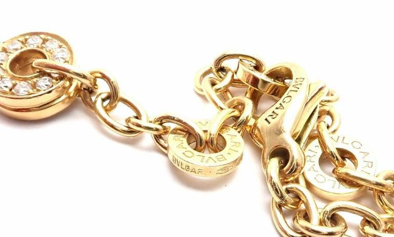 Bulgari Astrale Diamond Color Stone Yellow Gold Large Pendant Necklace For Sale 1