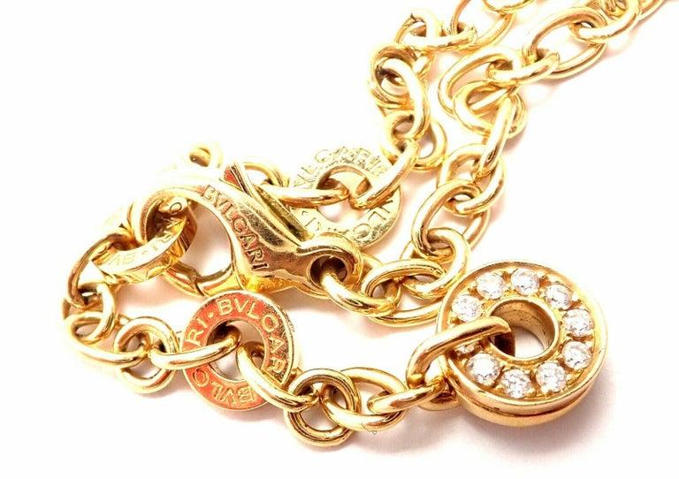 Bulgari Astrale Diamond Color Stone Yellow Gold Large Pendant Necklace For Sale 3