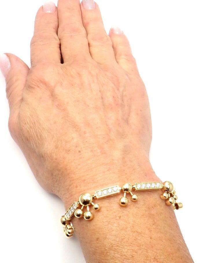 Bulgari Astrale Diamond Link Yellow Gold Bracelet For Sale 7