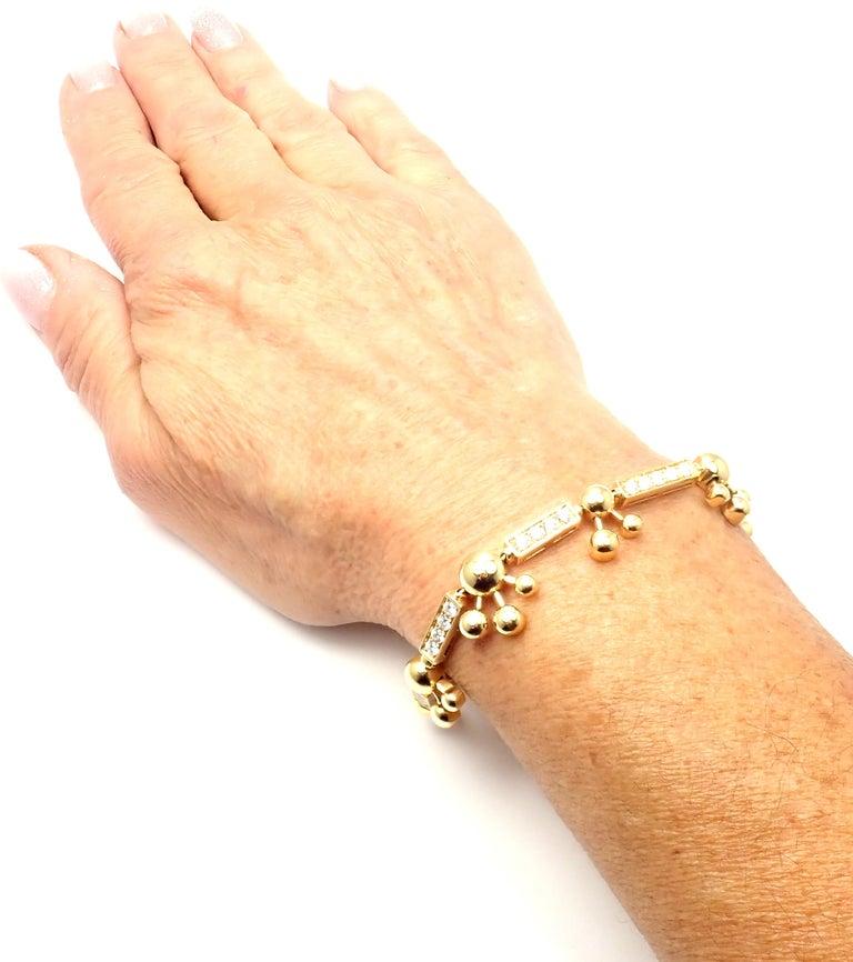 Bulgari Astrale Diamond Link Yellow Gold Bracelet For Sale 8