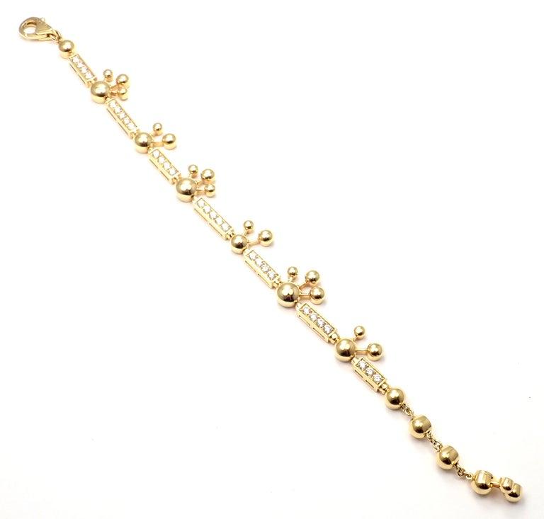 Bulgari Astrale Diamond Link Yellow Gold Bracelet For Sale 1