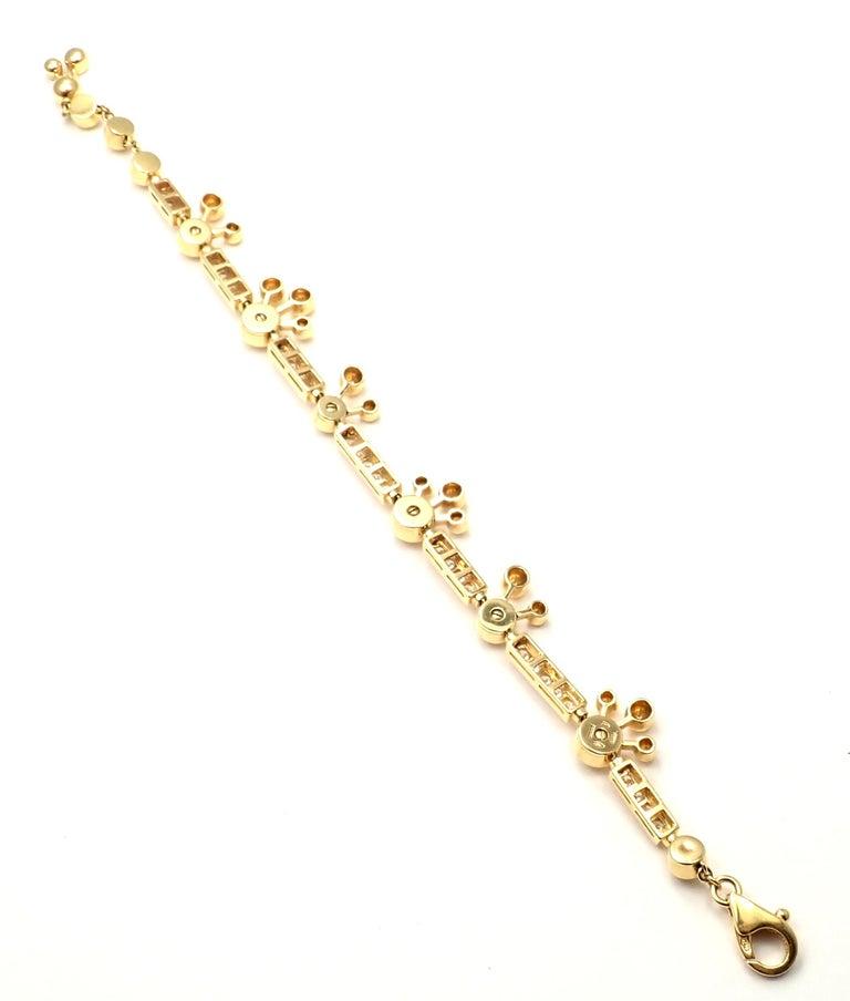 Bulgari Astrale Diamond Link Yellow Gold Bracelet For Sale 2