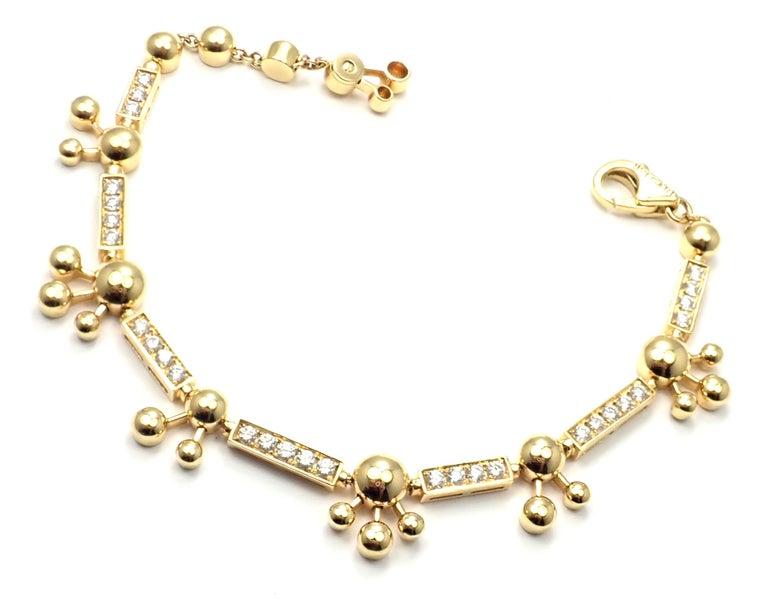 Bulgari Astrale Diamond Link Yellow Gold Bracelet For Sale 3
