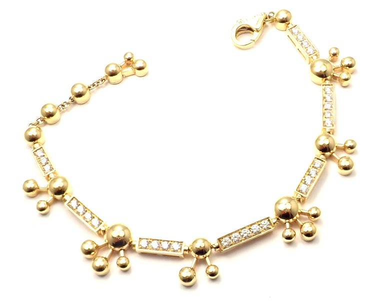 Bulgari Astrale Diamond Link Yellow Gold Bracelet For Sale 4