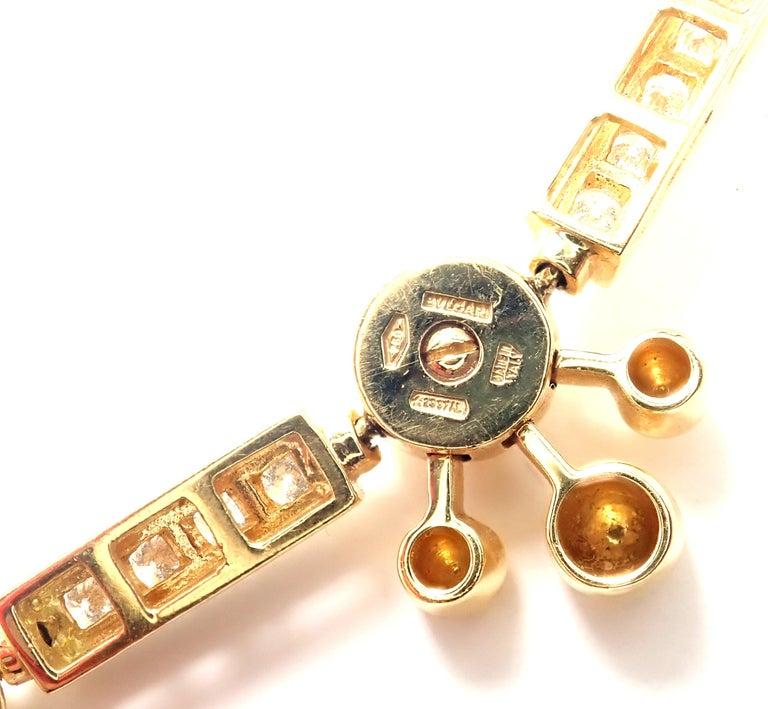 Bulgari Astrale Diamond Link Yellow Gold Bracelet For Sale 5