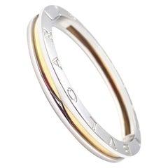 Bulgari B-Zero Yellow Gold and Stainless Steel Bangle Bracelet