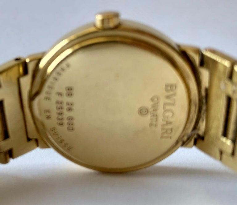 Modern Bulgari BB 26 GGD 18 Karat Yellow Gold Ladies Watch For Sale