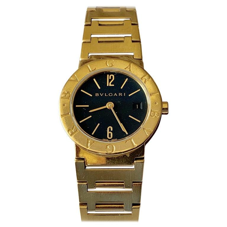 Bulgari BB 26 GGD 18 Karat Yellow Gold Ladies Watch For Sale