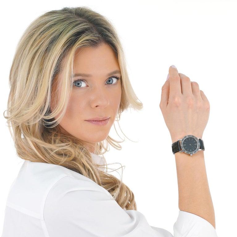 Women's or Men's Bulgari BB 33 SLD Stainless Steel Quartz Women's Watch For Sale