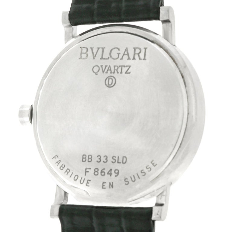 Bulgari BB 33 SLD Stainless Steel Quartz Women's Watch For Sale 1