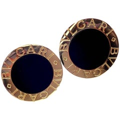 Bulgari Black Onyx Yellow Gold Cufflinks