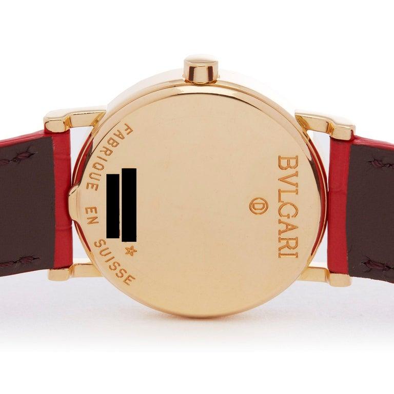 Bulgari Bulgari B-Zero BB 30 GL Ladies Yellow Gold Watch For Sale 2