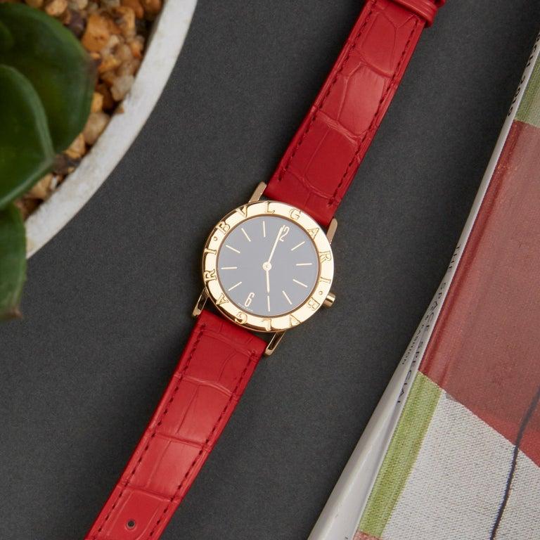 Bulgari Bulgari B-Zero BB 30 GL Ladies Yellow Gold Watch For Sale 4