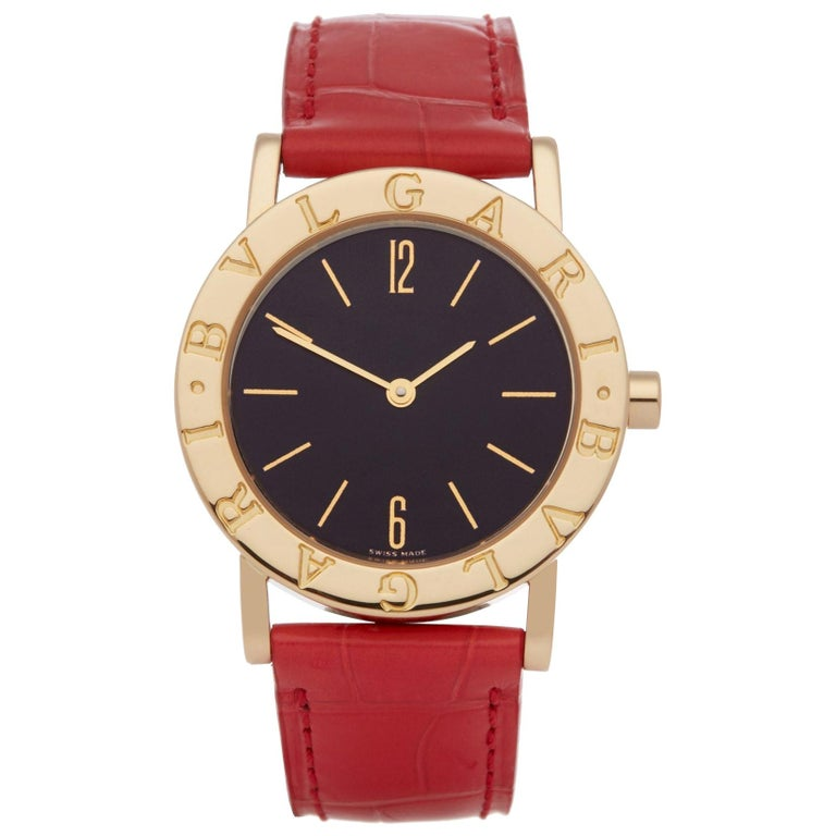 Bulgari Bulgari B-Zero BB 30 GL Ladies Yellow Gold Watch For Sale