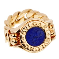 Bulgari Bulgari Lapis Chain Yellow Gold Ring