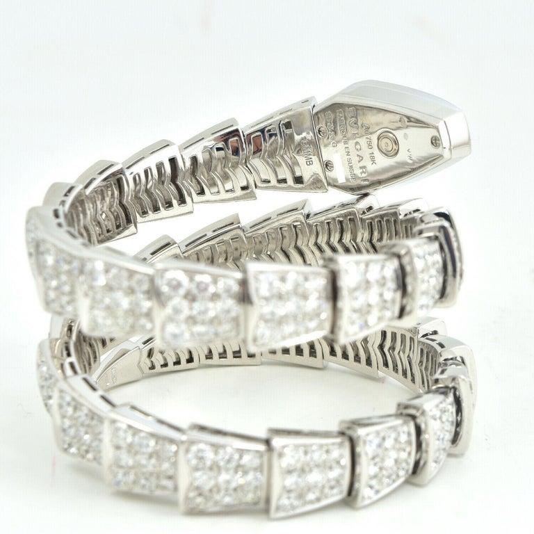Bulgari Bulgari Serpenti Jewelry Scaglie in White Gold Watch In Excellent Condition For Sale In Miami, FL