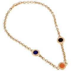 Bulgari Bulgari Vintage Lapis Coral Onyx Gold Necklace