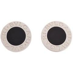 Bulgari-Bulgari White Gold Onyx Earrings