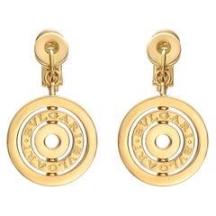 Bulgari Bulgari Yellow Gold Drop Earrings