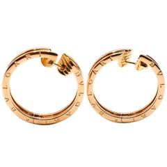 Bulgari Bvlgari B.Zero1 18 Karat Rose Pink Gold Hoop Earrings Large